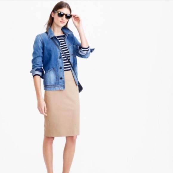 03f3e49cc038 J. Crew Skirts | J Crew No 2 Pencil Skirt In 2way Stretch Cotton ...